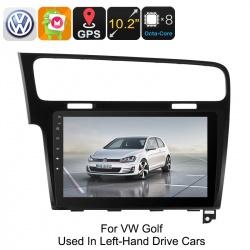 Медиацентр 1Din для VW Golf, экран 10.2', GPS, Андроид, CAN BUS, Bluetooth, Wi-Fi, 3G