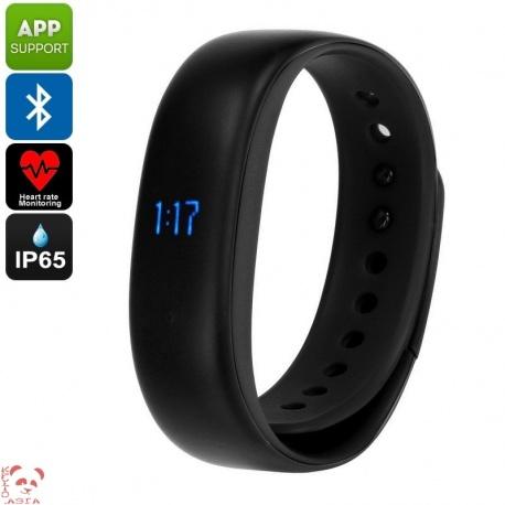 Фитнес-браслет Lenovo HW02, шагомер, пульсометр, контроль сна, Bluetooth 4.2 (чёрный)
