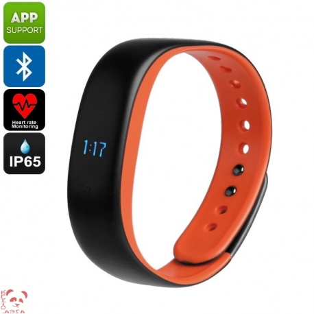 Фитнес-браслет Lenovo HW02, шагомер, пульсометр, контроль сна, Bluetooth 4.2 (оранжевый)