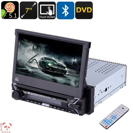 Магнитола 1DIN экран 7' с GPS, Bluetooth, DVD, Android, Wi-Fi