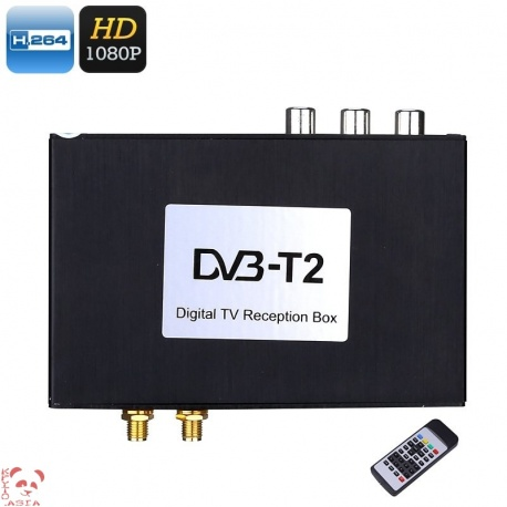 Цифровой тюнер DVB-T2 в авто H.264, HDMI 1080p, VHF - UHF