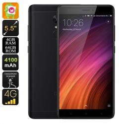 Xiaomi Redmi Note 4X, Андроид, 4G, decacore, 13Мп камера, батарея 4100мАч, 4Гб/64Гб (чёрный)
