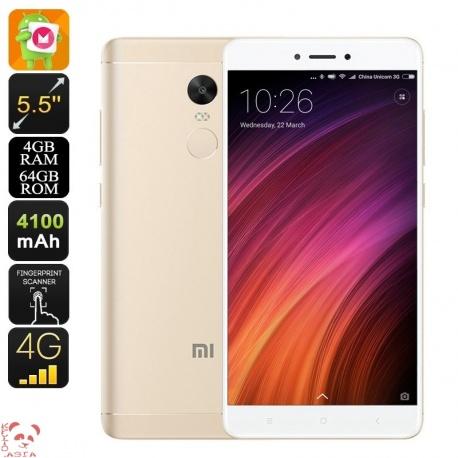 Xiaomi Redmi Note 4X, Андроид, 4G, decacore, 13Мп камера, батарея 4100мАч, 4Гб/64Гб (золото)