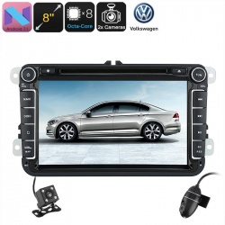 Медиацентр 2Din для VW Passat 8', GPS, Андроид 7.1, CAN BUS, Bluetooth, Wi-Fi, 3G, камеры