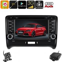 Медиацентр 2Din для Audi TT, экран 7', GPS, Андроид, CAN BUS, Bluetooth, Wi-Fi, 3G, камеры