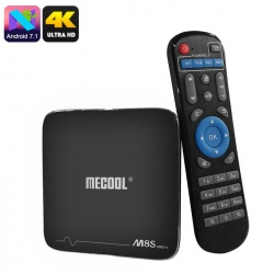 ТВ-приставка Mecool M8S Pro, 4K, Андроид 7.1, 1Гб ОЗУ, DLNA, Airplay, Miracast