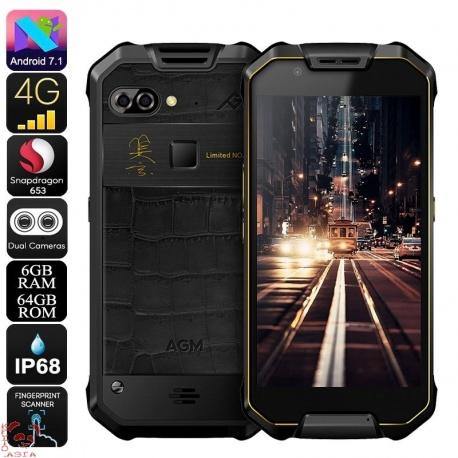 Защищённый AGM X2, 4G, Android 7.1, 6Гб/64Гб, IP68, OTG, аккумулятор 6000мАч (золото)