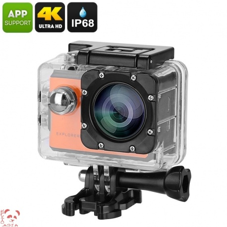 Экстремальная видеокамера MgCool Explorer 2C, 170гр объектив, 4К видео, Sony IMX078 сенсор (оранжевый)