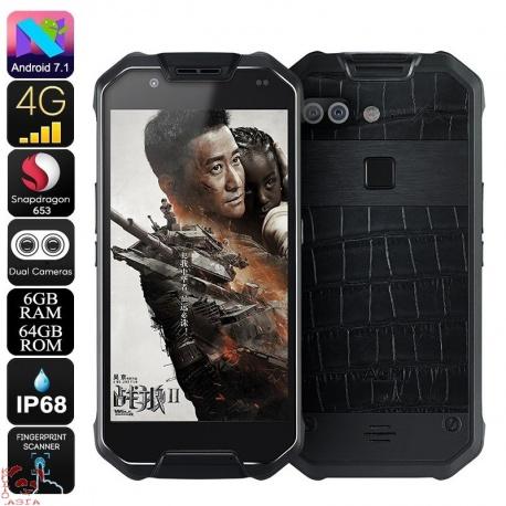 Защищённый AGM X2, 4G, Android 7.1, 6Гб/128Гб, IP68, OTG, аккумулятор 6000мАч (кожа)