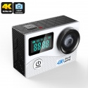 Экстрим-камера K2, 16Мп CMOS, 170 градусов объектив, 4К видео, IP68, Wi-Fi (серебро)