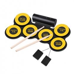 Электронное ударная установка, 6 барабанов, 2 педали, USB, наушники, запись