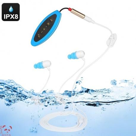 Водонепроницаемый 8Гб MP3 плеер с FM, IPX8